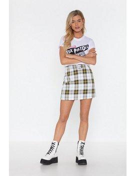 Stark Raving Plaid Mini Skirt by Nasty Gal