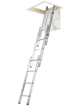 Abru 3 Section Loft Ladder With Handrail by Argos