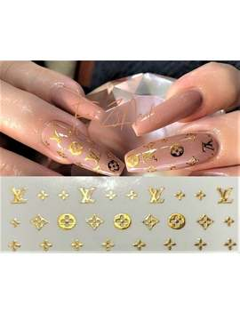 Exclusive 3 D Logo Nail Art Stickers Self Adhesive Decals by Etsy