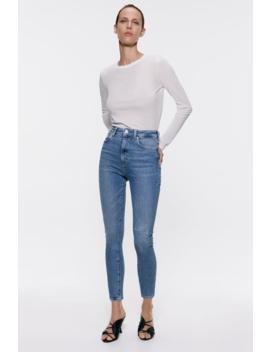 Zw Premium '80 S High Waist Venice Blue Jeans Jeanswoman by Zara