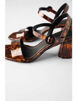 Tortoiseshell Chunky Heel Sandals Shoeswoman Shoes & Bags by Zara
