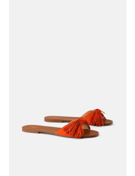 Fringed Flat Sandals Shoeswoman Shoes & Bags by Zara