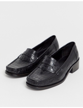 Asos Design   Marley   Platte Jaren 90 Loafers In Zwart by Asos Design
