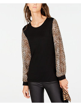 I.N.C. Printed Sleeve Top, Created For Macy's by General