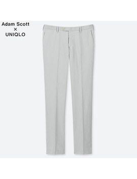 Men Kando Adam Scott Ultra Light Striped Trousers (L34) by Uniqlo