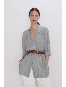 Gestreiftes Hemd Mit Streifen Alles Anzeigen Hemden Und Blusen Damen by Zara