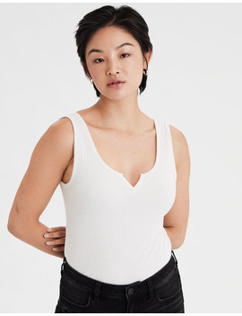 Ae Notch Neck Tank Top by American Eagle Outfitters