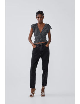 Pleated Top With Ruffles Tops T Shirts Trf by Zara