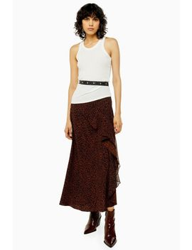 Brown Leopard Print Maxi Skirt by Topshop