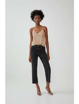Sequinned Top Tops T Shirts Trf by Zara