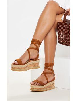 Tan Niella Espadrille Flatform Sandals by Prettylittlething