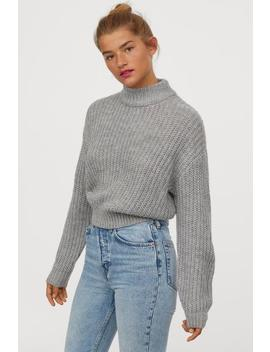 Knit Stand Up Collar Sweater by H&M