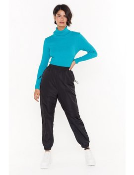 Running Up Bills High Waisted Zip Joggers by Nasty Gal