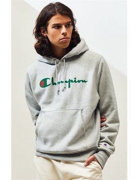 Champion Stacked Big C Flocked Pullover Hoodie by Pacsun