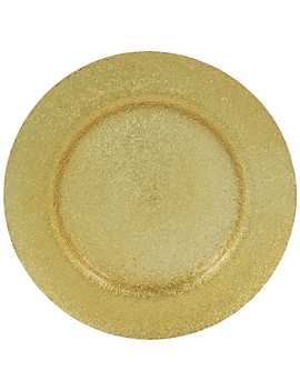 Gold Glass Plate Charger by Hobby Lobby