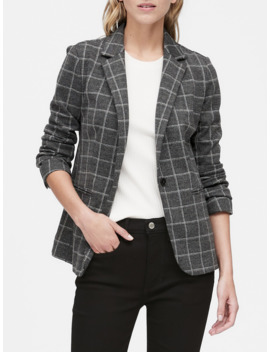 Petite Unstructured Knit Blazer by Banana Repbulic