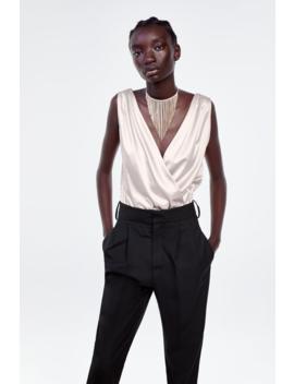 Satin Bodysuit Topswoman by Zara