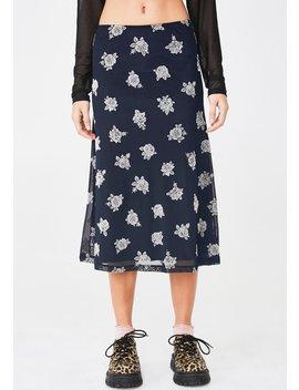 Floral Tauri Midi Skirt by Motel