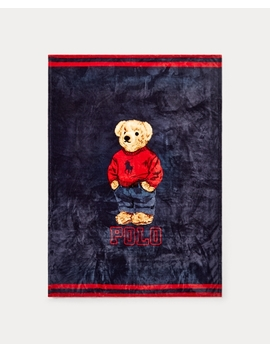 Sweatshirt Bear Throw Blanket by Ralph Lauren