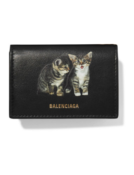 Ville Mini Printed Leather Wallet by Balenciaga
