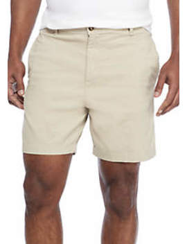 7 In Stretch Twill Dry Cement Shorts by Saddlebred
