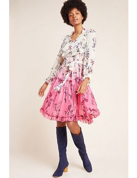 Dip Dyed Floral Dress by Anthropologie