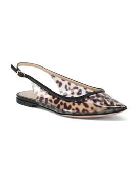 Made In Italy Leopard Slingback Flats by Tj Maxx