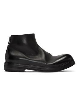 Black Zucca Zeppa Tronchetto Boots by MarsÈll