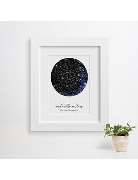 Custom Constellation Map, Star Map Print, Frames Available, Star Map Art, Constellation Map Baby, Wedding Gift Couple, Anniversary Gift by Etsy