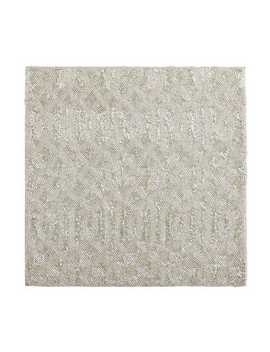 Silver Beaded Square Placemat by Pier1 Imports