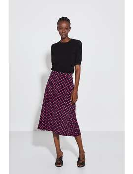 Polka Dot Print Skirt Skirtswoman by Zara
