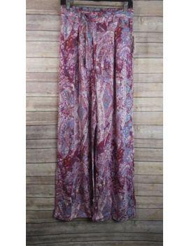 Jessica Simpson Legacy Kegan Wide Leg Pants Straight Belt Tie Purple Sz M, Nwt! by Jessica Simpson