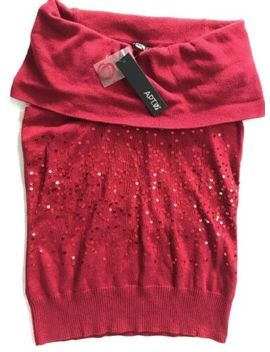 Apt 9 Kohls S Red Sequin Cowlneck Sleeveless Top Valentine Christmas Holiday by Apt. 9