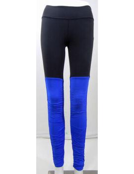 Beyond Yoga Women Leg Warmer Leggings Full Length Shirred Ruched Sleek Striped S by Beyond Yoga