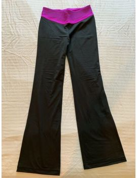 Euc Victoria's Secret Sexy Vsx Sport Supermodel Yoga Pant, Black Pink Fishnet, S by Victoria's Secret