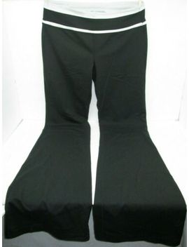 Vsx Victoria's Secret Sexy Sport Yoga Pant Black W/White Panel Medium Long Loved by Victoria's Secret