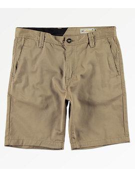Volcom Frickin Drifter Khaki Shorts by Volcom