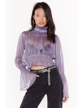 Sheer's To Us Polka Dot Cropped Blouse by Nasty Gal