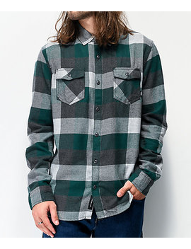 Vans Box Trekking Green & Grey Flannel Shirt by Vans