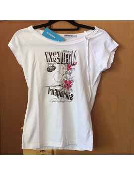 Nwt Mbsky White Flower Graphic T Shirt   Nwt by Mbsky