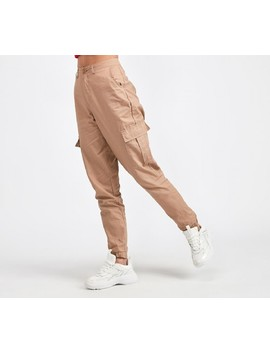 Womens Cuffed Cargo Pant | Tan by Daisy Street