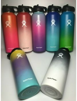 Hydro Flask Insulated Stainless Steel Water Bottles Wide Mouth With Straw Lids by Hydro Flask