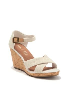 Sienna Cork Wedge Sandal by Toms