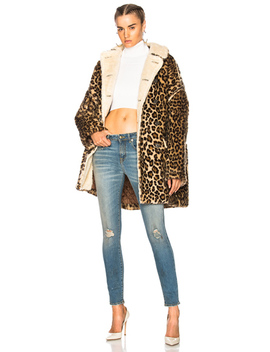 Leopard Huntington Coat by R13