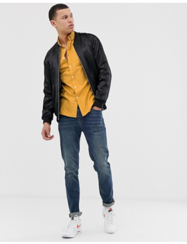 Asos Design Tall Skinny Casual Oxford Shirt In Mustard by Asos Design
