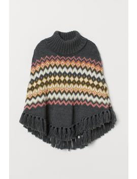 Knitted Polo Neck Poncho by H&M