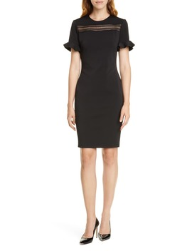 Lace Inset Sheath Dress by Ted Baker London