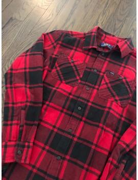 🔥90s Polo Ralph Lauren Red/Black Flannel Button Up by Polo Ralph Lauren  ×  Vintage  ×