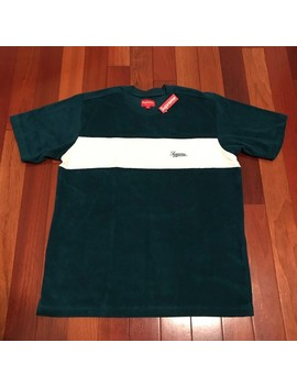 Teal Supreme Chest Stripe Terry Top by Supreme  ×