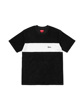 Supreme Chest Stripe Terry Top Black Medium by Supreme  ×